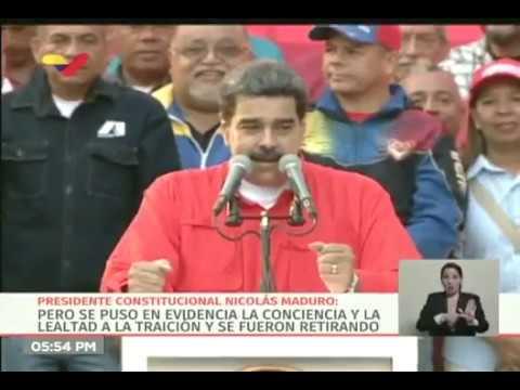 Discurso de Nicolás Maduro, marcha 1 de Mayo de 2019, tras intento de golpe de Estado