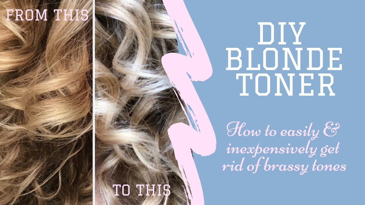Diy Blonde Toner Remove Brassy Tones From Blonde Hair