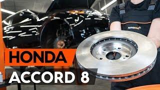 Substituição Discos de travagem HONDA ACCORD: manual técnico