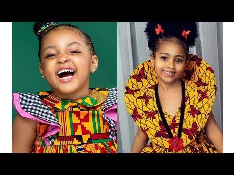 little girls dressed in African Ankara fashion dresses