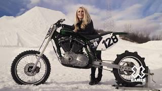 H-D Snow Hill Climb Sportster w/ Dianna Dahlgren   Harley-Davidson