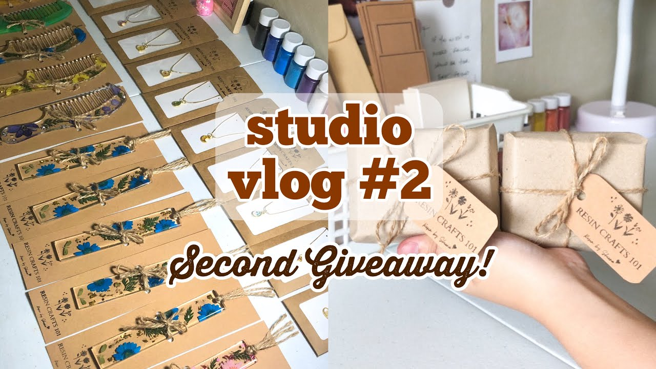 Studio Vlog #2 | Packing Orders For My Resin Craft Shop | Second Giveaway