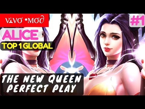 The New Queen Perfect Play [Top 1 Global Alice] | νﻨνσ •мσ∂ Alice Gameplay #1 Mobile Legend