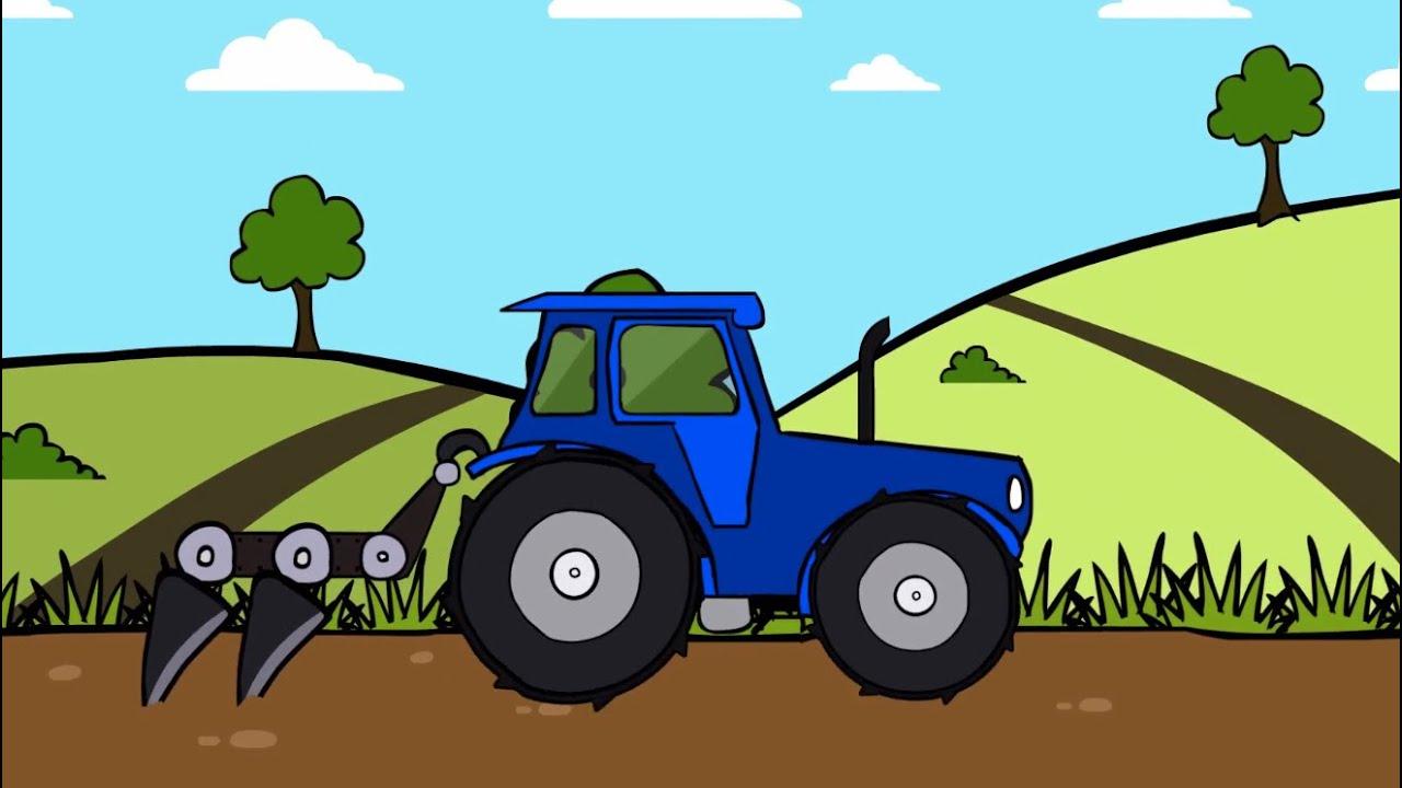 Раскраски трактор теремок тв