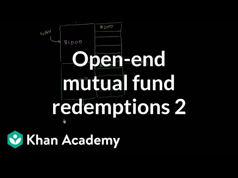 Open-end mutual fund redemptions (part 2)  | Finance & Capital Markets | Khan Academy