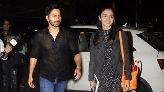 Alia Bhatt & Varun Dhawan Spotted At Mumbai Airport