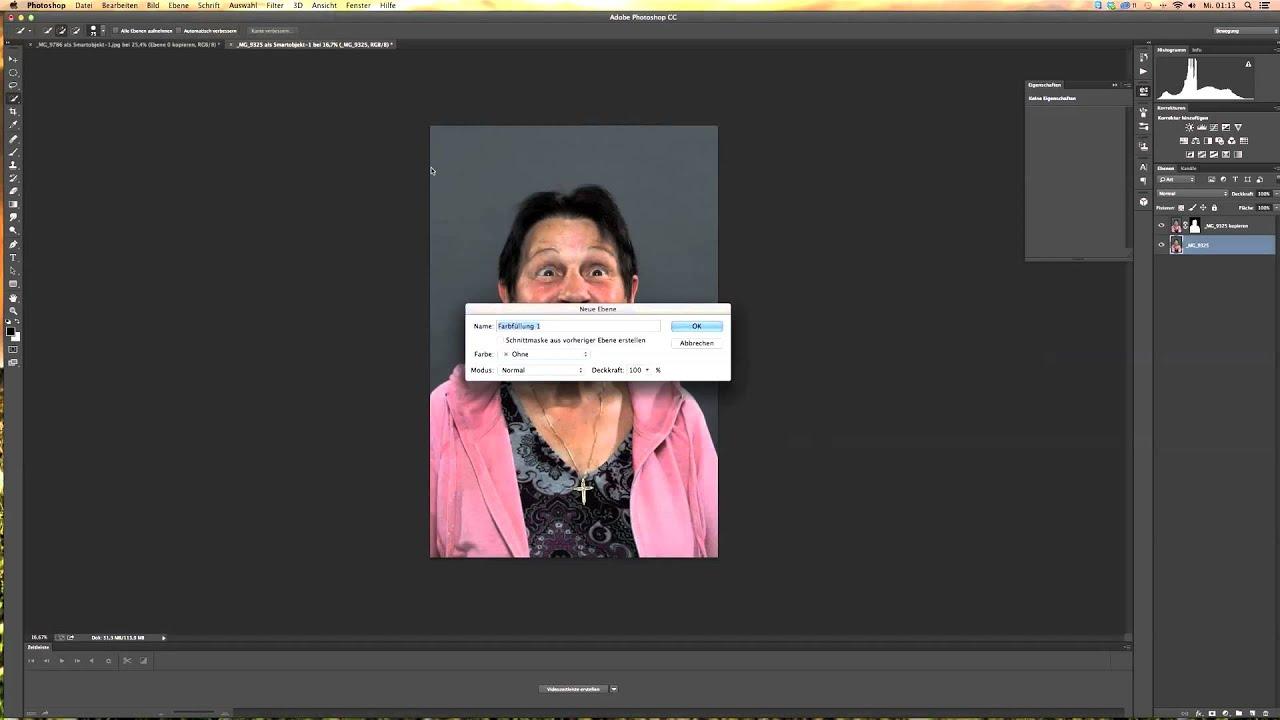 Photoshop Tutorial Für Den Portrait Hintergrund Freistellen Von