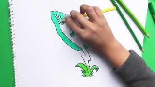Como dibujar a Junco Electrico (Plantas vs Zombies 2) - How to draw Junco Electrico
