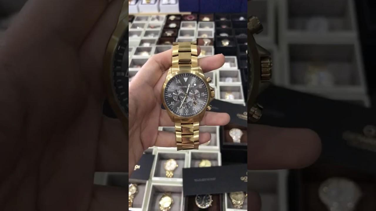de57289795c2 MICHAEL KORS Gage Chronograph Black Dial Gold-tone Men s Watch ...
