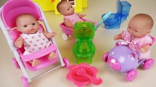 Baby Doll baby sitter potty training and Kinder Joy Surprise eggs toys
