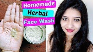 DIY HERBAL face wash in Hindi   Homemade Natural face wash   How to make face wash at home