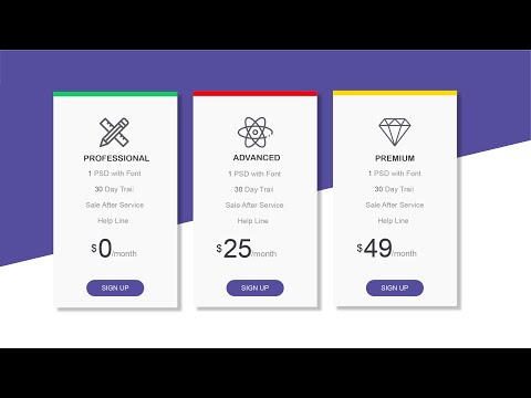 Responsive Price Card Design With HTML & CSS