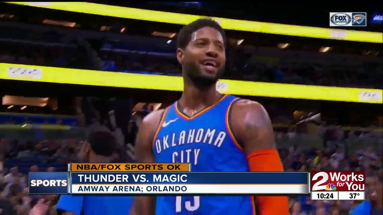 Paul George, Dennis Schroder lead Thunder to win at Orlando, extend winning streak to 6 games