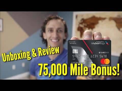 Barclay Aviator Business Card Unboxing & Review | American Airline Credit Card
