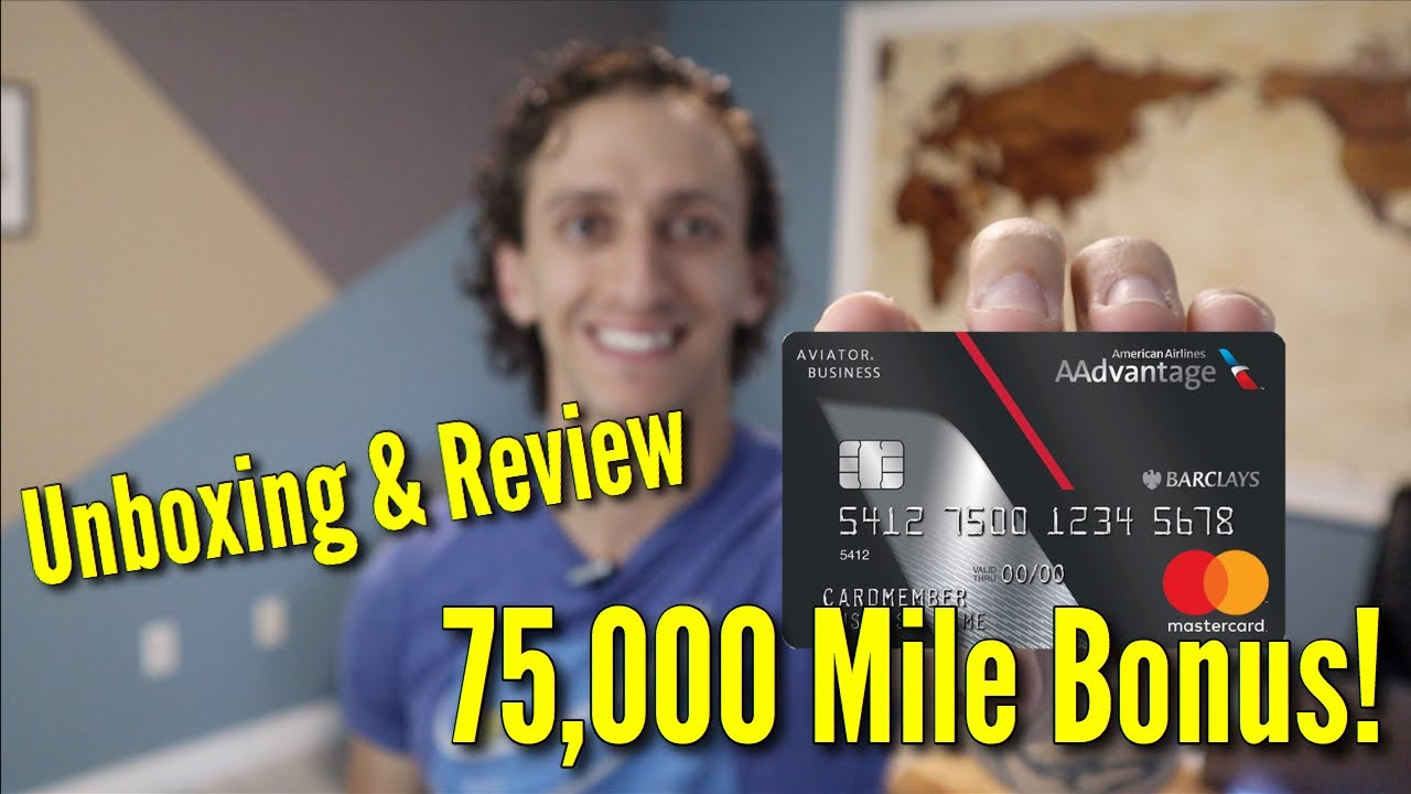 Barclay Aviator Business Card Unboxing & Review  American Airline Credit  Card