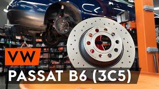 Hoe een remschijven achterste vervangen op een VW PASSAT B6 (3C5) [AUTODOC-TUTORIAL]