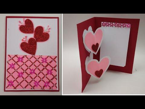 Beautiful Handmade Valentine's Day Card Idea/DIY Greeting Cards Friendship day, Rakshabandhan card
