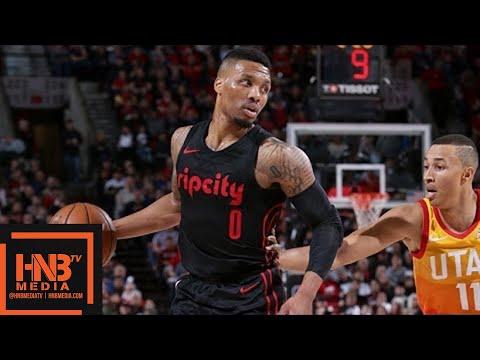 Utah Jazz vs Portland Trail Blazers Full Game Highlights / April 11 / 2017-18 NBA Season