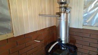 подключение выносного бака для горячей воды в бане  ч2