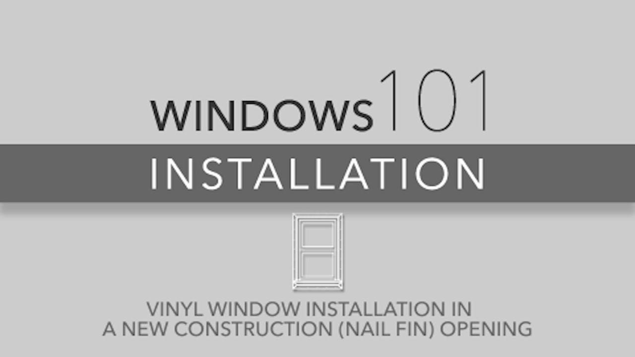 Reliabilt Windows 101 Vinyl Window Installation For New