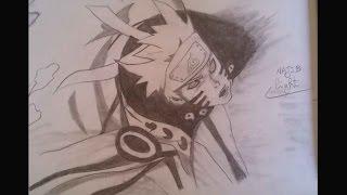 Drawing Naruto Bijuu Mode -pencil-  ナルト尾獣モード