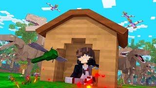 Minecraft: DESAFIO DA BASE 100% SEGURA CONTRA DINOSSAUROS  ‹ JUAUM ›