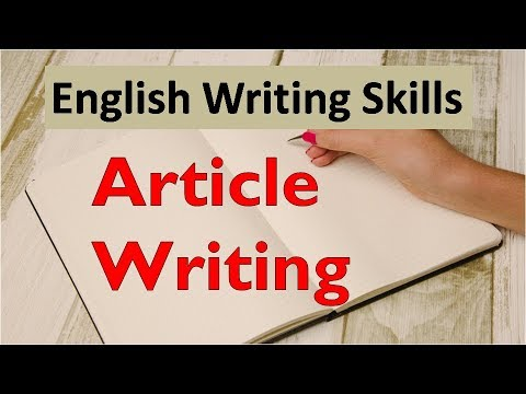 CBSE English Writing Skills - Article Writing (In Hindi)