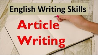 Article Writing format - What is article writing?