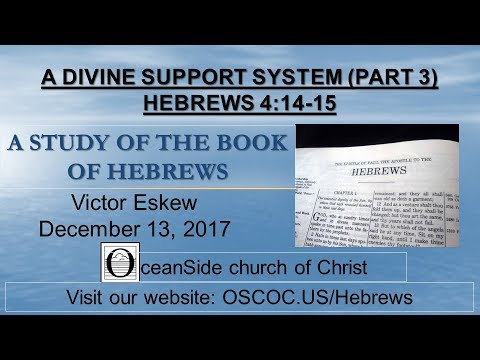 A Divine Support System (part 3) (Study of Hebrews series)