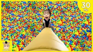 Indoor Playground Fun for Kids and Family and More Slide Colors Rainbow Balls Play| MariAndKids Toys