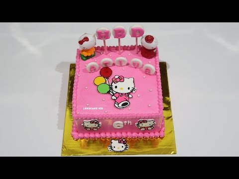 HELLO KITTY CAKE! HOW TO MAKE BIRTHDAY CAKE SIMPLE