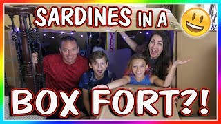 SARDINES IN A BOX FORT MAZE | HIDE AND SEEK | We Are The Davises thumbnail
