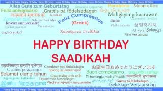 Saadikah   Languages Idiomas - Happy Birthday