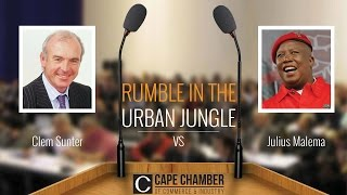FULL STREAM: Clem Sunter vs Julius Malema Cape Chamber of Commerce debate on economy