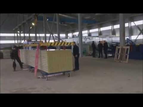 Транспортировка  сэндвич-панелей на Нелидовском Кровельном Заводе