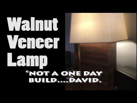 Not a one day build Walnut Veneer Lamp