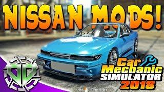 Car Mechanic Simulator 2018 : Nissan MODS! Car Salon & Race Track Update! (PC Modded)