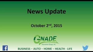 Gnade insurance news update 10 2 15
