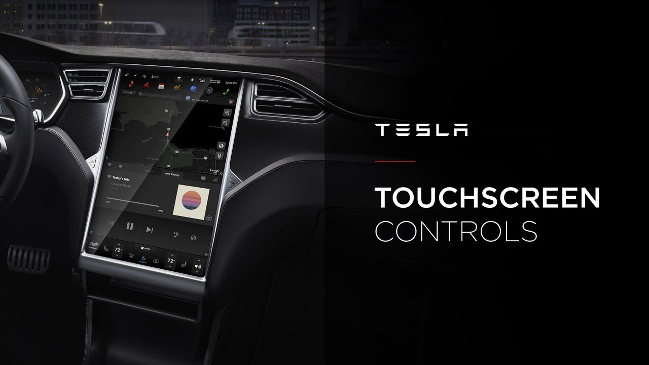 Tesla Touchscreen Controls Youtube