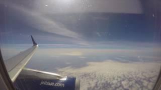 JetBlue JFK New York to Las Vegas time-lapse