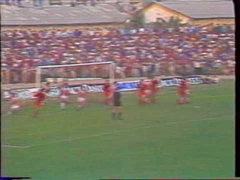 flamurtari vs olympiakos 0-2 1990-91 cup winners cup