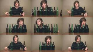 Repeat youtube video Saria's Song on Beer Bottles