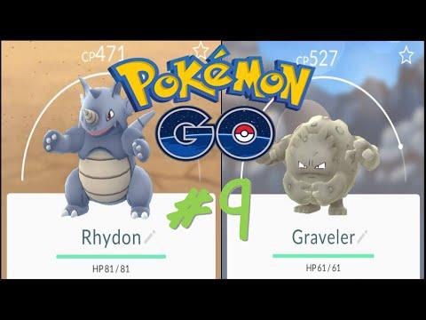Pokemon Go   Pokémon Go   Day 8   Evolving Rhyhorn and Geodude into Rhydon and Graveler