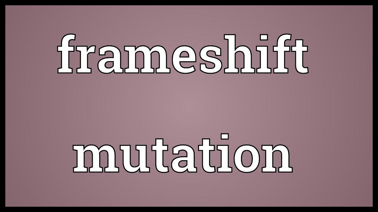 Frameshift mutation Meaning - YouTube