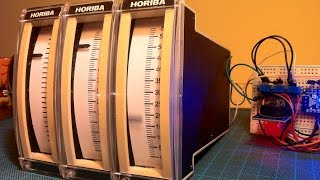 Arduino based analog clock with salvaged linear gauges from old Horiba gas analysers - part 1