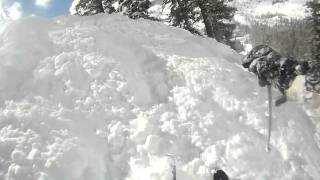 Alpine Meadows-Gentian Gully POWDER with a somersault! Thumbnail