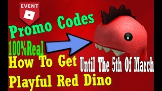 How To Get Playful Red Dino | PromoCodes | Roblox
