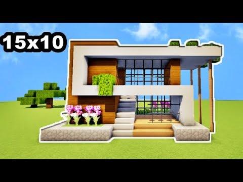 comment faire une mini maison de luxe 15x10 sur minecraft tutoriel youtube. Black Bedroom Furniture Sets. Home Design Ideas