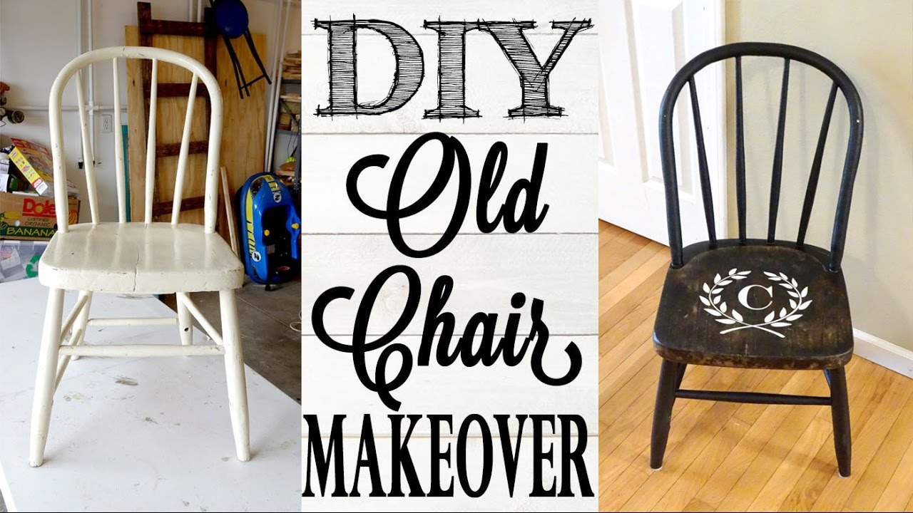 Refurbished Old Chair Makeover | BEFORE U0026 AFTER