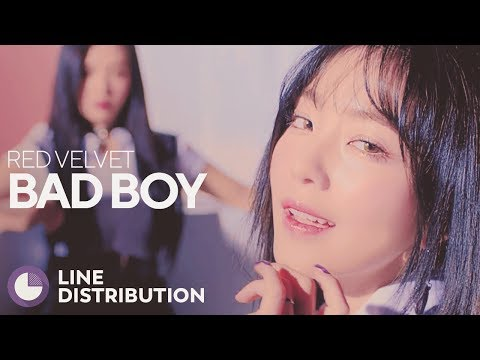 RED VELVET - Bad Boy (Line Distribution)